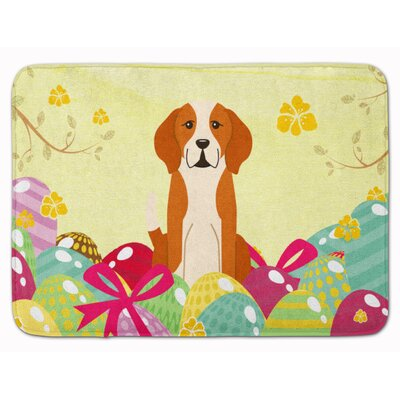 Easter Eggs English Foxhound Memory Foam Bath Rug