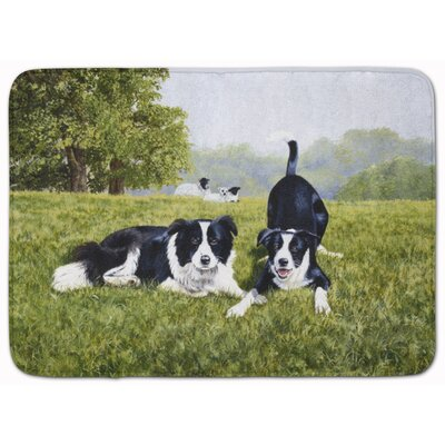 Lets Play Border Collie Memory Foam Bath Rug