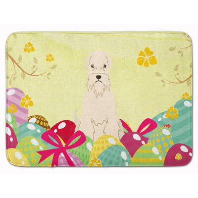 Easter Eggs Soft Coated Wheaten Terrier Memory Foam Bath Rug