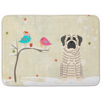 Christmas Mastiff Memory Foam Bath Rug