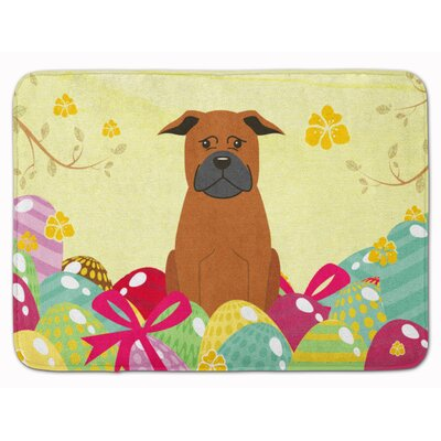 Easter Eggs Chinese Chongqing Dog Memory Foam Bath Rug