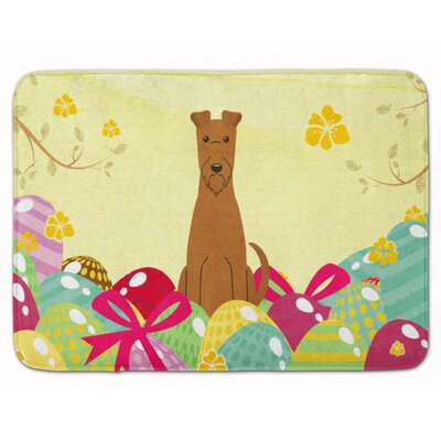 Easter Eggs Irish Terrier Memory Foam Bath Rug
