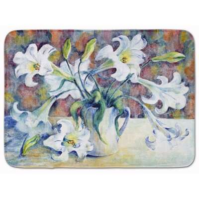 Donvers Easter Lillies Memory Foam Bath Rug