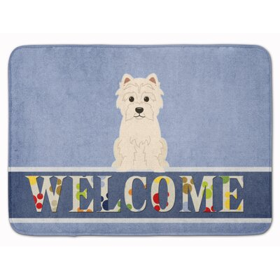 Westie Welcome Memory Foam Bath Rug