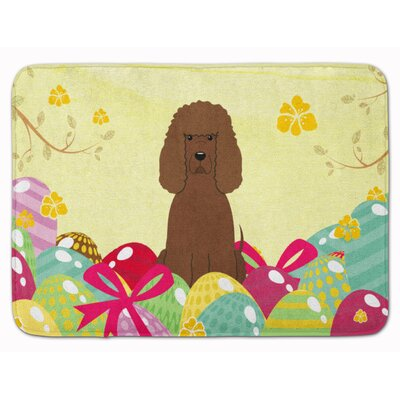 Easter Eggs Irish Water Spaniel Memory Foam Bath Rug