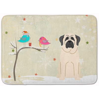 Christmas Presents Friend Mastiff Memory Foam Bath Rug