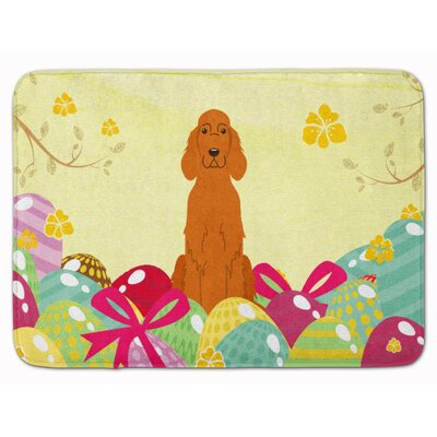 Easter Eggs Irish Setter Memory Foam Bath Rug