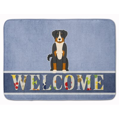 Appenzeller Sennenhund Welcome Memory Foam Bath Rug