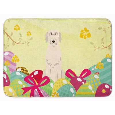 Easter Eggs Irish Wolfhound Memory Foam Bath Rug