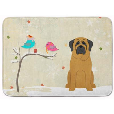 Christmas Presents Friends Mastiff Memory Foam Bath Rug