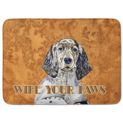 English Setter Wipe Your Paws Memory Foam Bath Rug