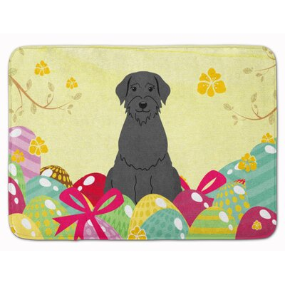 Easter Eggs Giant Schnauzer Memory Foam Bath Rug