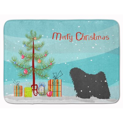 Puli Merry Christmas Tree Memory Foam Bath Rug