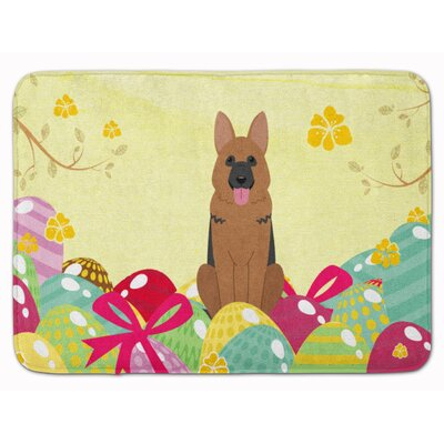 Easter Eggs German Shepherd Memory Foam Bath Rug