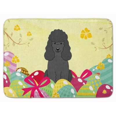 Easter Eggs Poodle Memory Foam Bath Rug Color: Black