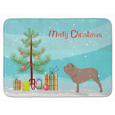Neapolitan Mastiff Merry Christmas Tree Memory Foam Bath Rug