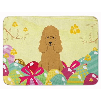 Easter Eggs Poodle Memory Foam Bath Rug Color: Tan