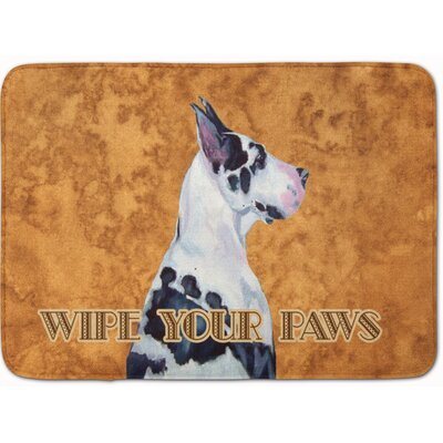 Harlequin Natural Great Dane Wipe Your Paws Memory Foam Bath Rug