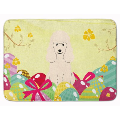 Easter Eggs Poodle Memory Foam Bath Rug Color: White