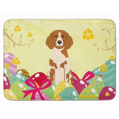 Easter Eggs Brittany Spaniel Memory Foam Bath Rug