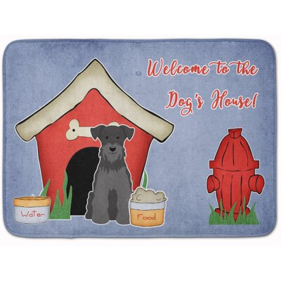 Dog House Miniature Schanuzer Memory Foam Bath Rug Color: Black