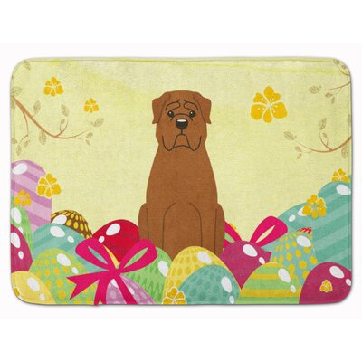 Easter Eggs Dogue de Bourdeaux Memory Foam Bath Rug