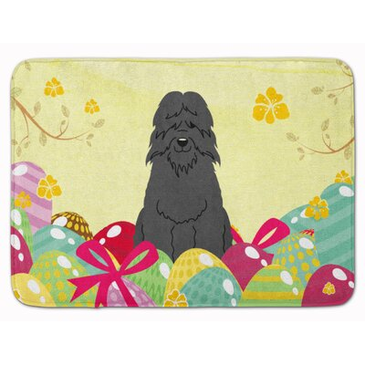 Easter Eggs Bouvier des Flandres Memory Foam Bath Rug