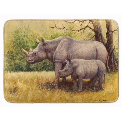 Rhinoceros by Daphne Baxter Memory Foam Bath Rug