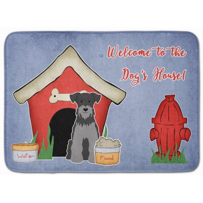 Dog House Miniature Schanuzer Memory Foam Bath Rug Color: Black/Gray