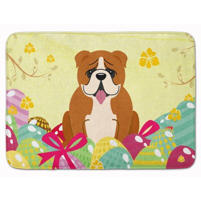 Easter Eggs English Bulldog Memory Foam Bath Rug