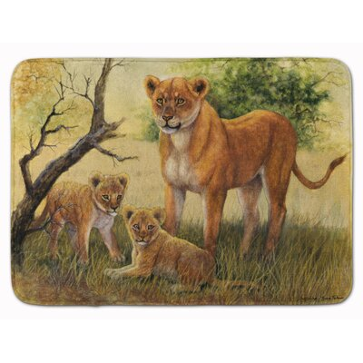 Malizia Lion and Cubs by Daphne Baxter Memory Foam Bath Rug