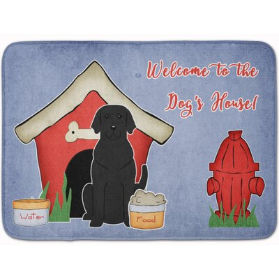 Dog House Labrador Memory Foam Bath Rug Color: Black