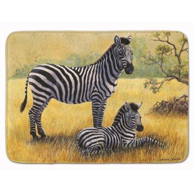 Zebras by Daphne Baxter Memory Foam Bath Rug