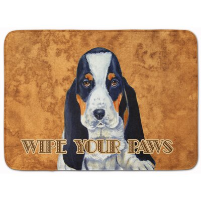 Basset Hound Wipe Your Paws Memory Foam Bath Rug