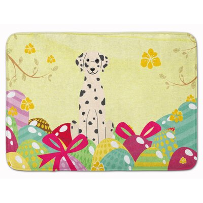 Easter Eggs Dalmatian Memory Foam Bath Rug