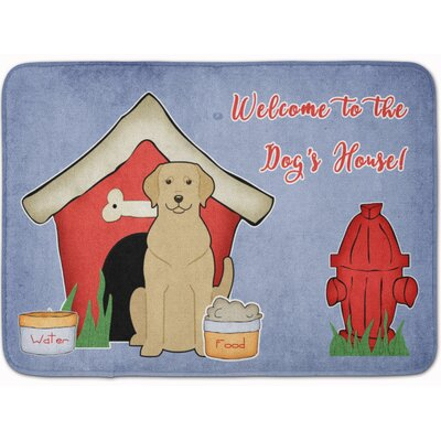 Dog House Labrador Memory Foam Bath Rug Color: Yellow