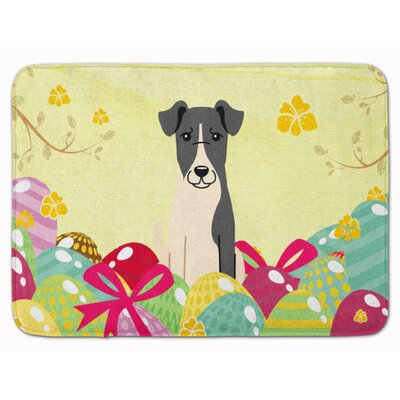 Easter Eggs Smooth Fox Terrier Memory Foam Bath Rug