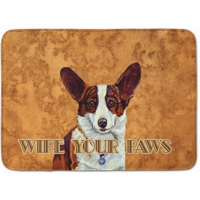 Cardigan Corgi Wipe Your Paws Memory Foam Bath Rug