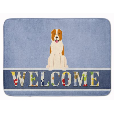 Central Asian Shepherd Dog Welcome Memory Foam Bath Rug
