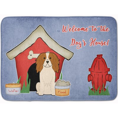 Dog House Cavalier Spaniel Memory Foam Bath Rug