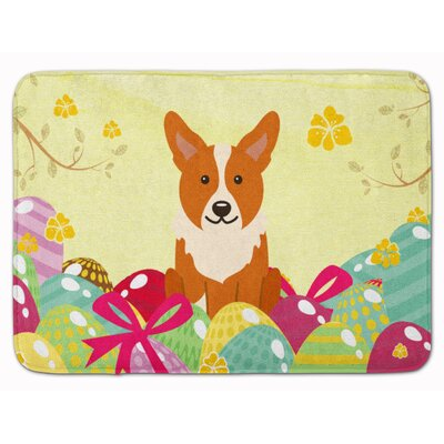 Easter Eggs Corgi Memory Foam Bath Rug