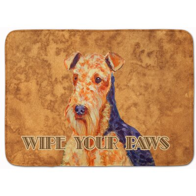 Airedale Wipe Your Paws Memory Foam Bath Rug