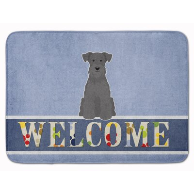 Miniature Schanuzer Welcome Memory Foam Bath Rug Color: Black