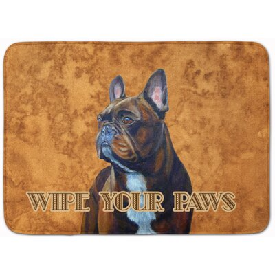 French Bulldog Wipe Your Paws Memory Foam Bath Rug