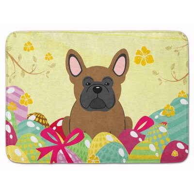 Easter Eggs French Bulldog Memory Foam Bath Rug