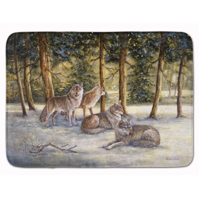 Wolves by Daphne Baxter Memory Foam Bath Rug