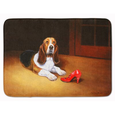 Basset and Shoe Memory Foam Bath Rug