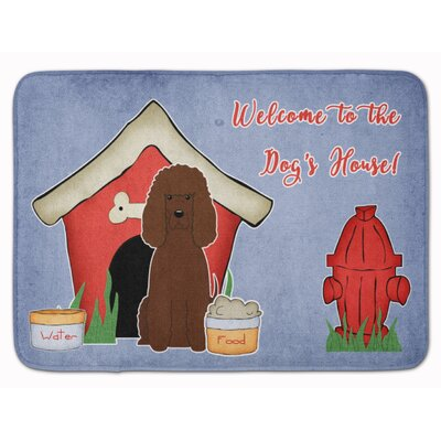 Dog House Irish Water Spaniel Memory Foam Bath Rug
