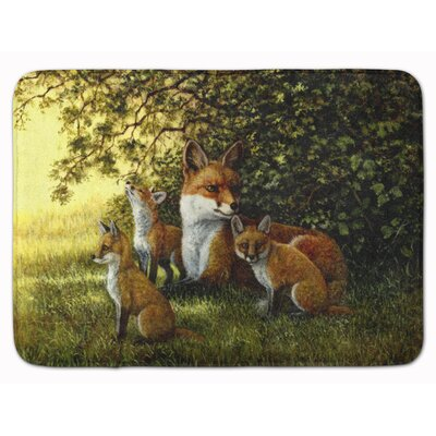 Fox Resting under the Tree Memory Foam Bath Rug