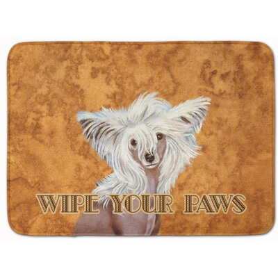 Chinese Crested Wipe Your Paws Memory Foam Bath Rug